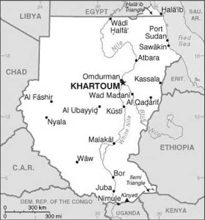 Espacorg DARFUR IN PERSPECTIVE MAP OF SUDAN - Map of sudan