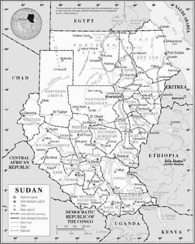 World Map Darfur